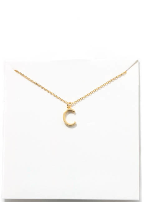 GOLD INITIAL NECKLACE - C