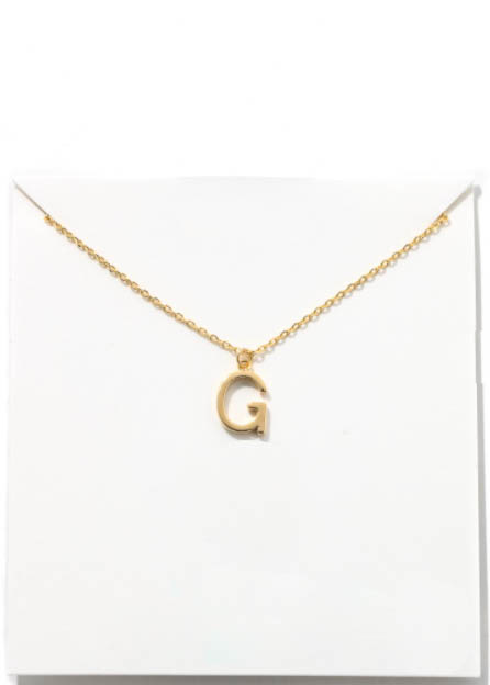 GOLD INITIAL NECKLACE - G