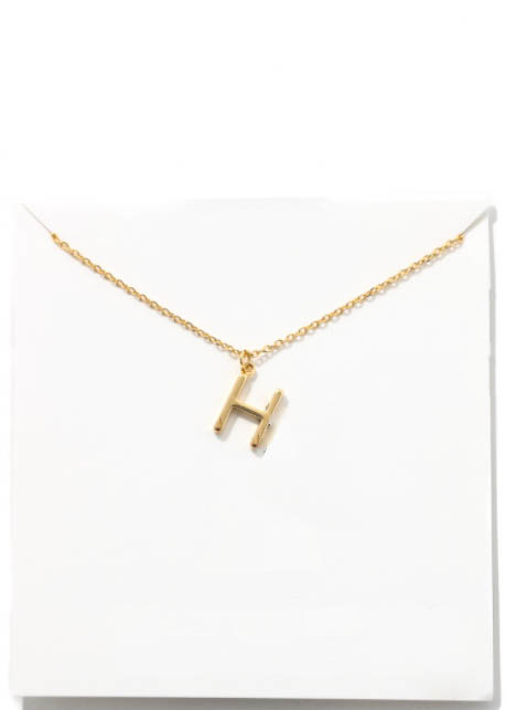 GOLD INITIAL NECKLACE - H