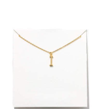 GOLD INITIAL NECKLACE - I