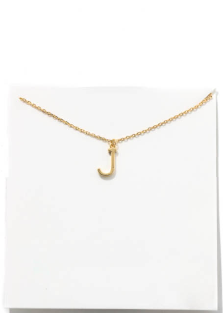GOLD INITIAL NECKLACE - J