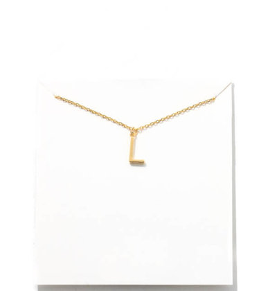 GOLD INITIAL NECKLACE - L