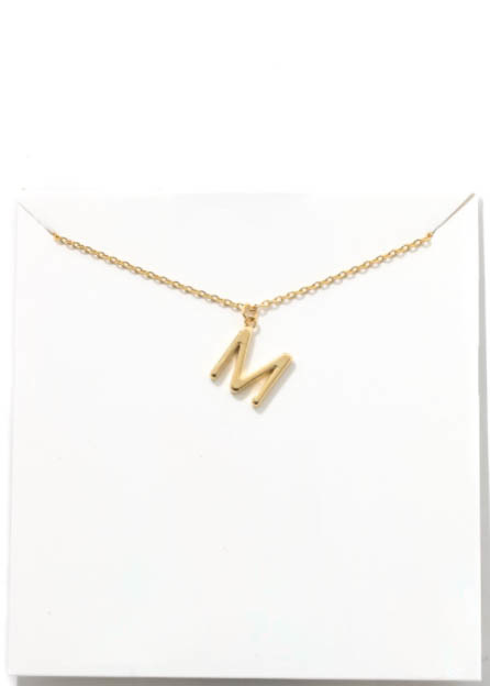 GOLD INITIAL NECKLACE - M