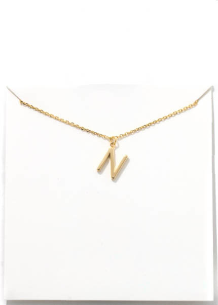 GOLD INITIAL NECKLACE - N