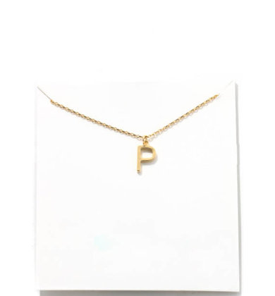 GOLD INITIAL NECKLACE - P