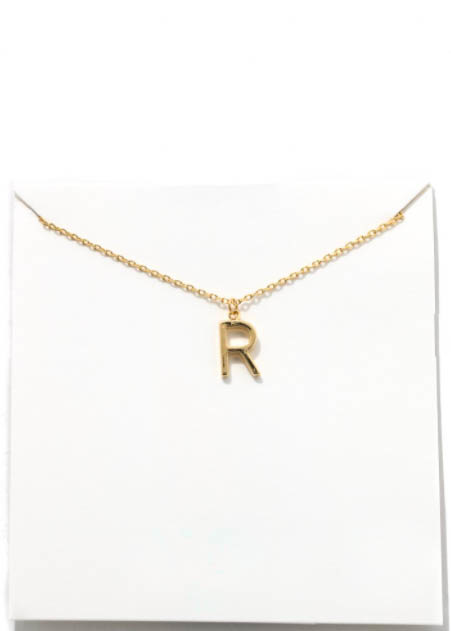 GOLD INITIAL NECKLACE - R