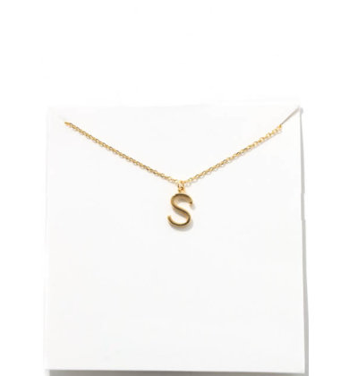 GOLD INITIAL NECKLACE - S