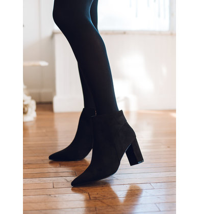 DARK HORSE BLACK SUEDE BOOTIES