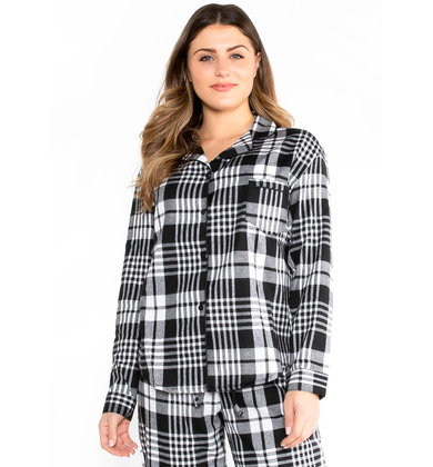SILVER BELLS PLAID TOP