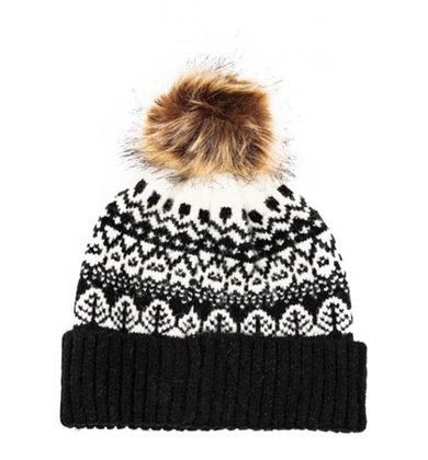 SILENT SNOWFALL POM HAT