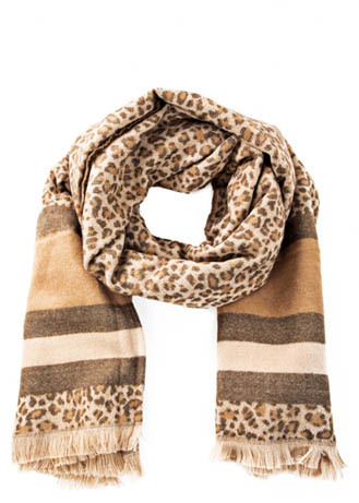 WRAPPED UP SCARF - BROWN