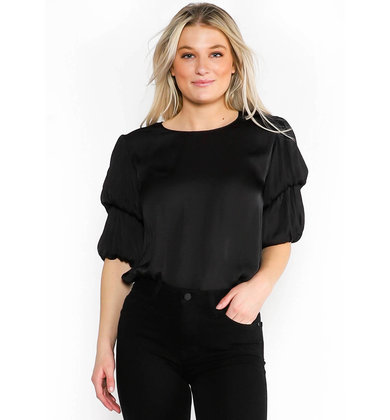 CURTAIN CALL BLOUSE - BLACK