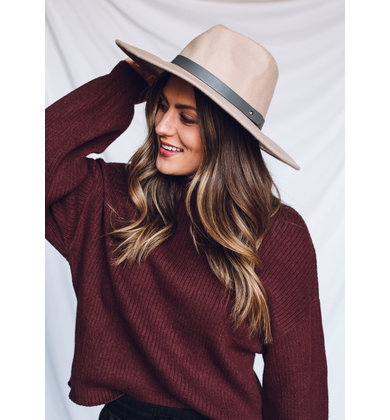 AWAY WITH ME WIDE BRIM HAT