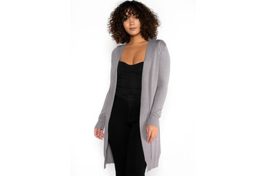 WEEPING WILLOW CARDIGAN - GREY