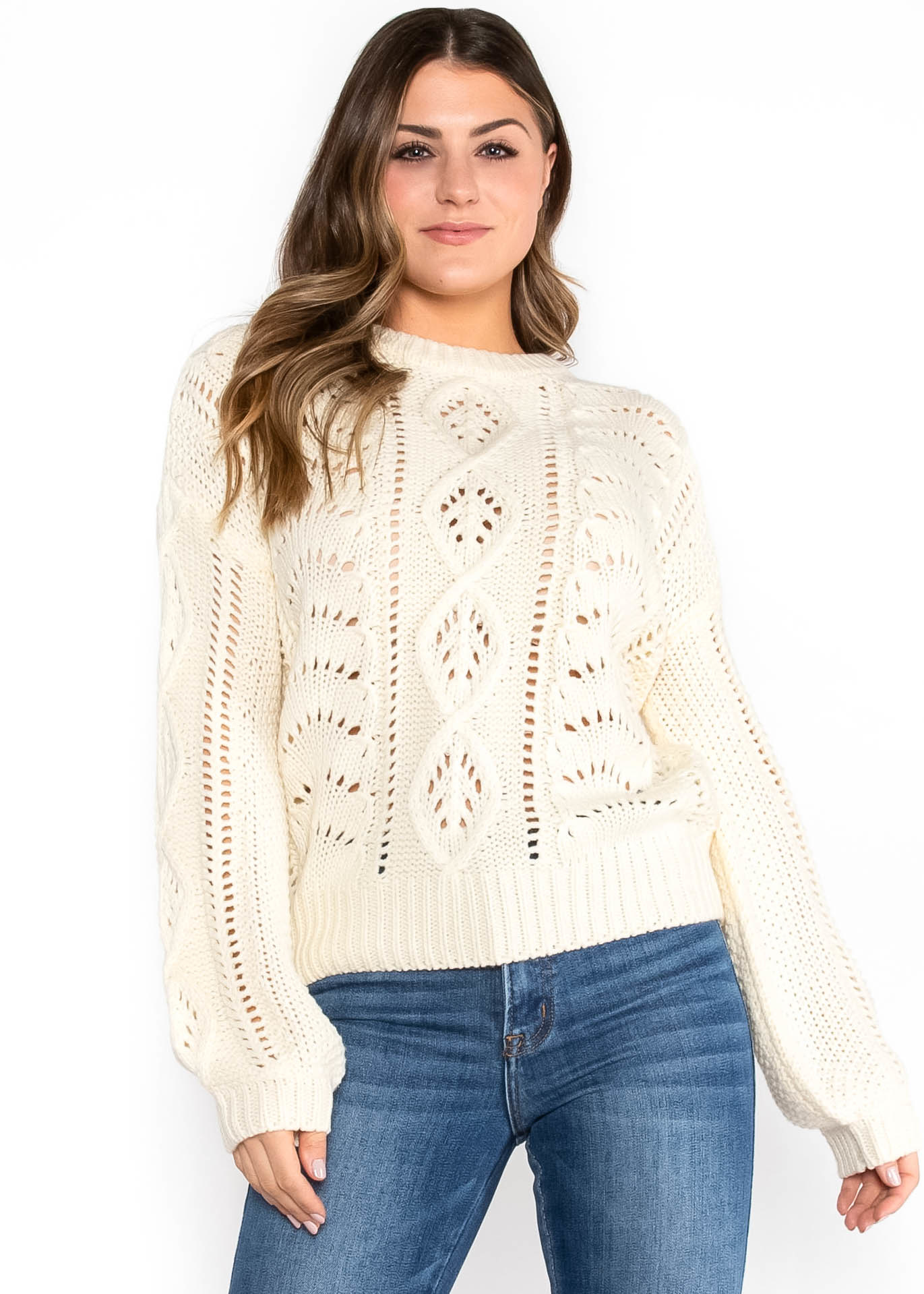 SUN WILL COME IVORY SWEATER