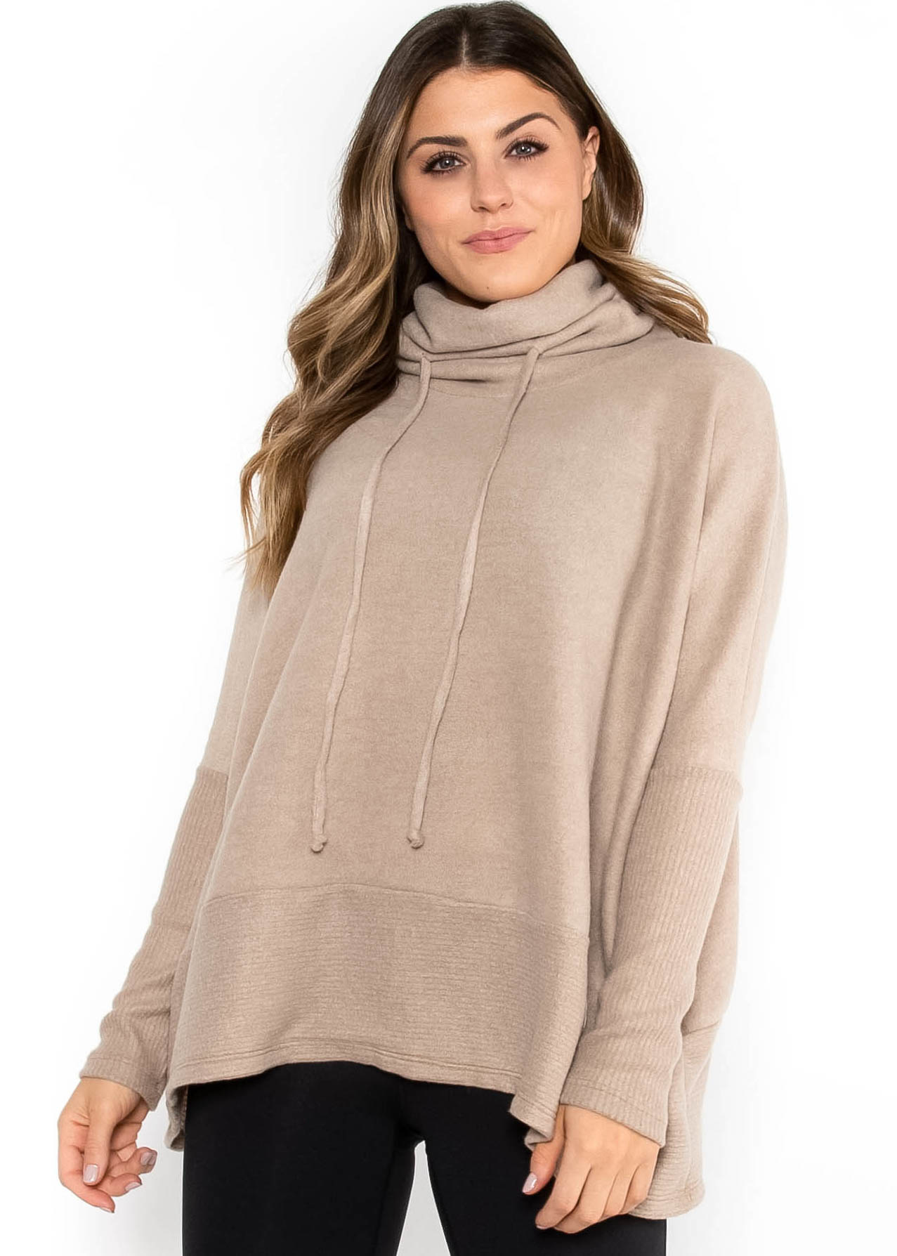WARM YOU UP COWL NECK SWEATER