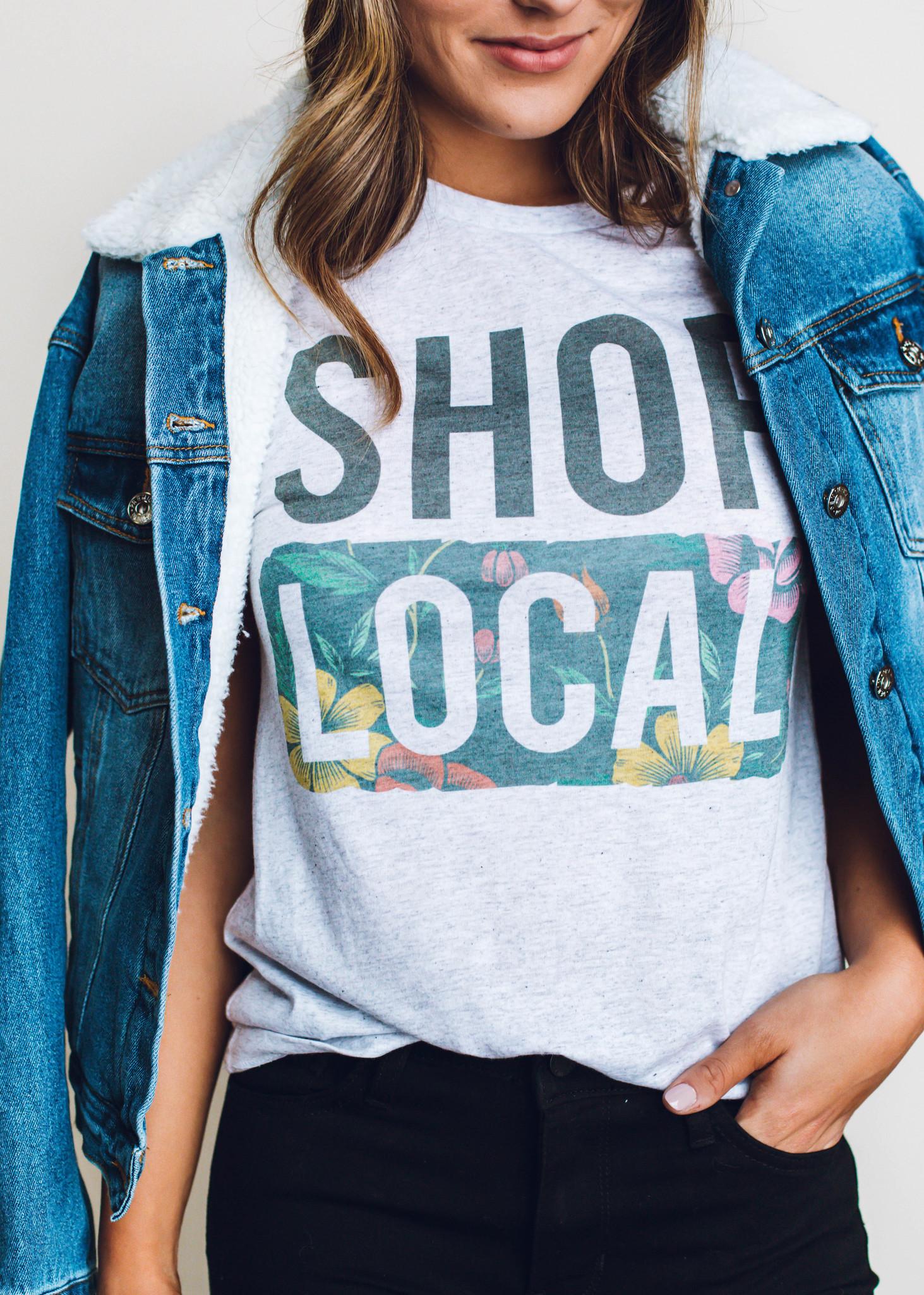 SHOP LOCAL GRAPHIC T-SHIRT