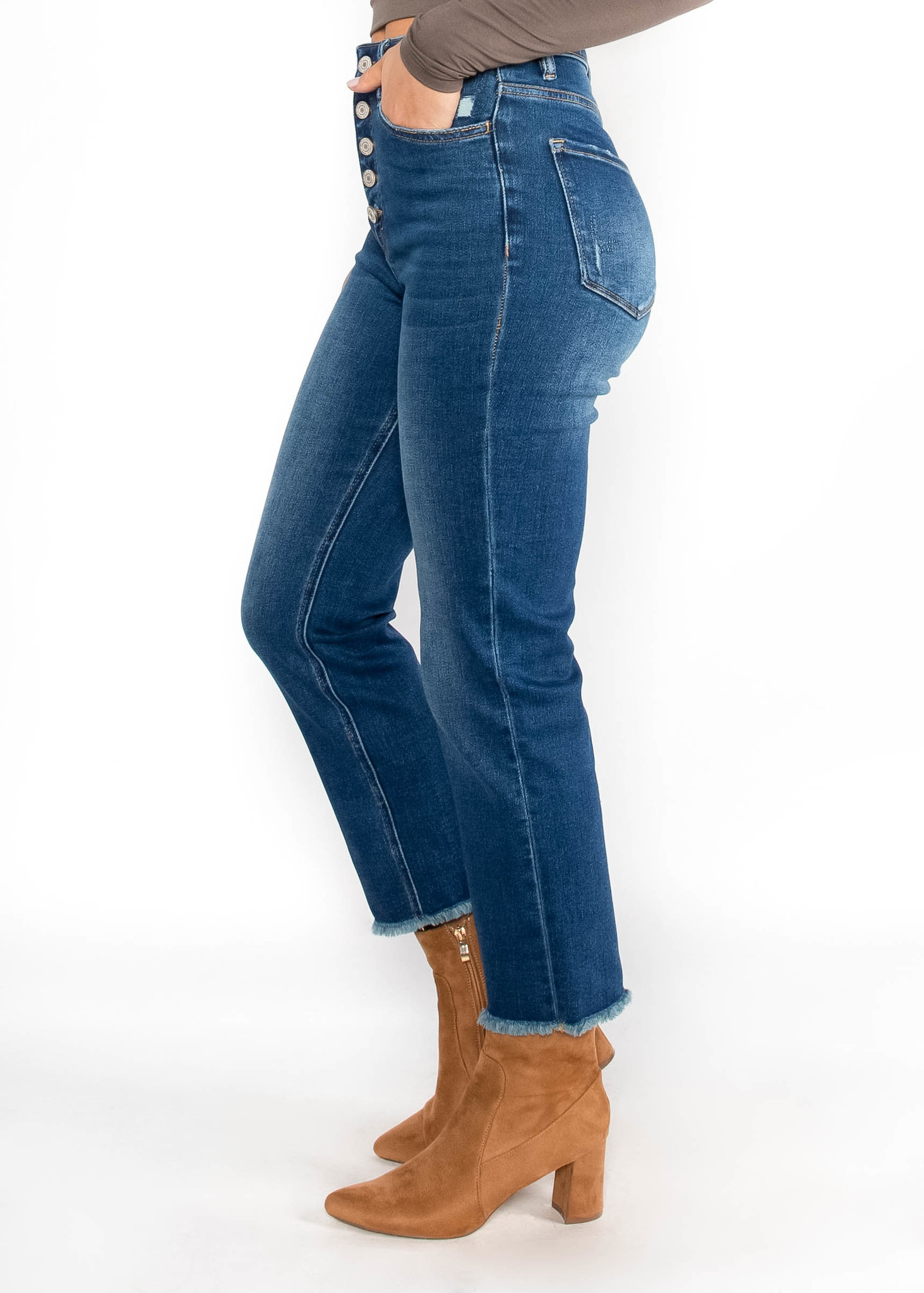 HIGHER LOVE BUTTON FLY JEANS
