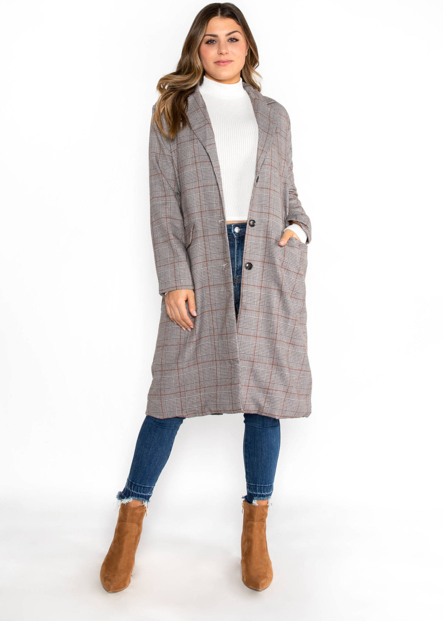 TO BE CONTINUED PLAID COAT