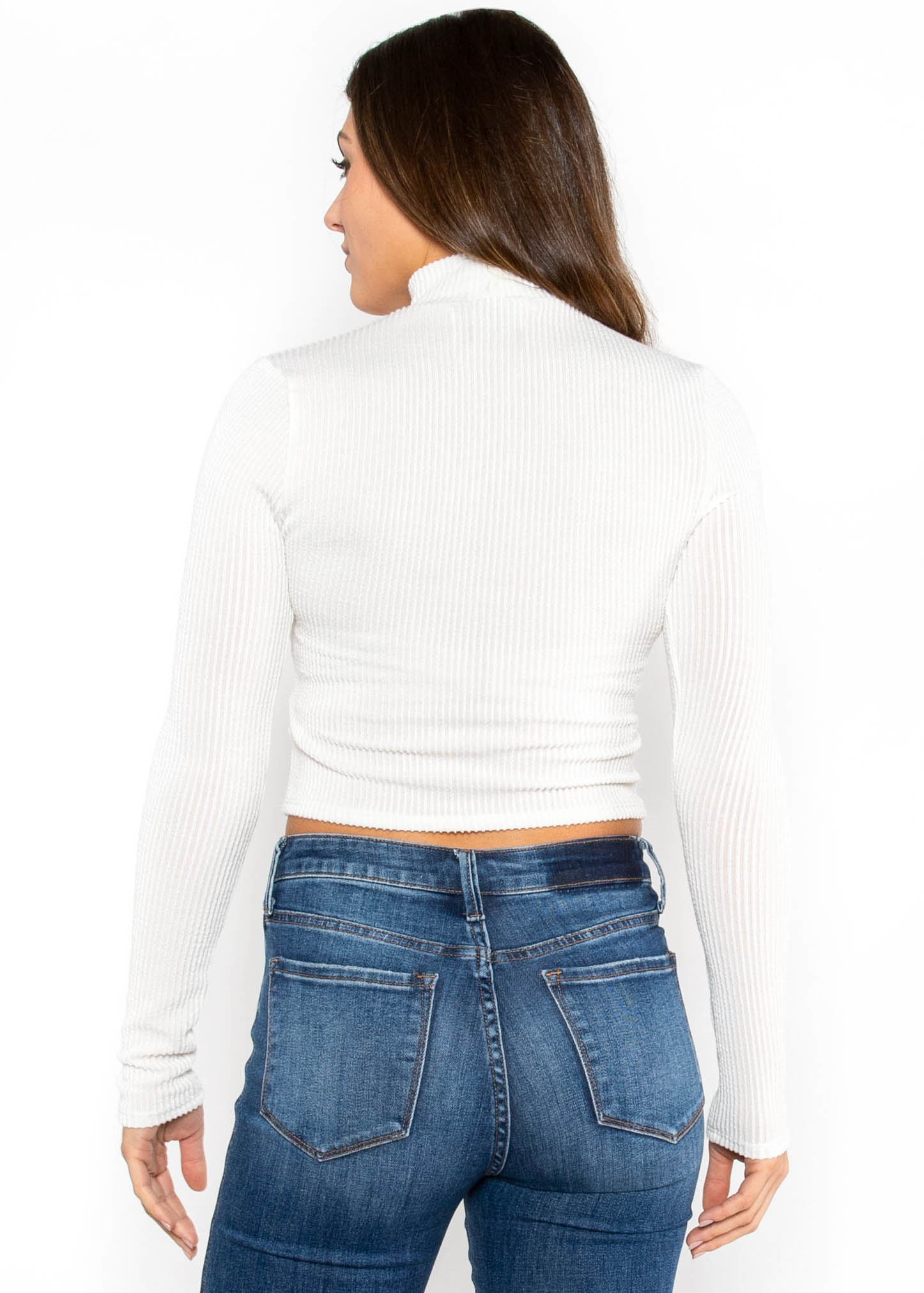 YOU AND I MOCK NECK CROP TOP