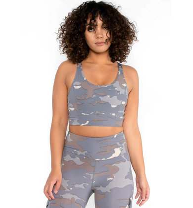 SIDEKICK CAMO PRINT SPORTS BRA