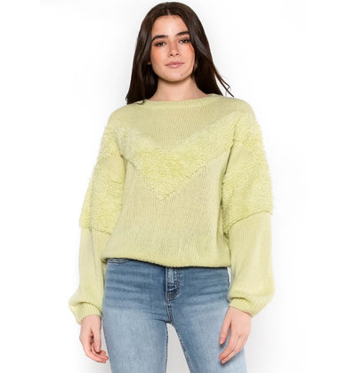 FRESH APPROACH TEXTURED SWEATER