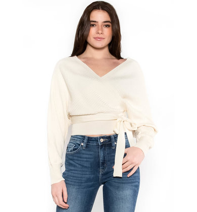 EVENING ROMANCE SWEATER - IVORY