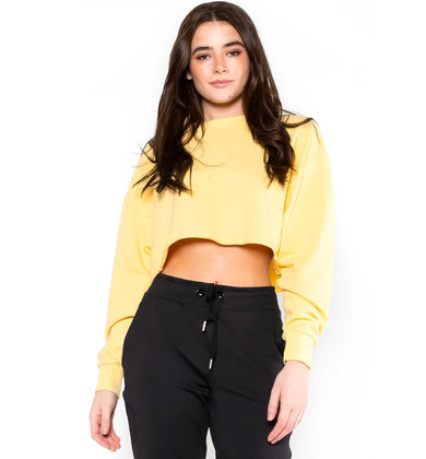 LEMONADE CROPPED SWEATSHIRT