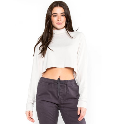 CORA CROPPED MOCK NECK SWEATER