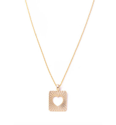 CROSS MY HEART GOLD NECKLACE