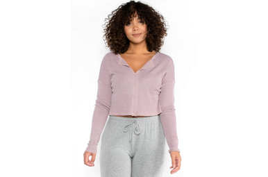 REFRESH WAFFLE KNIT TOP - PINK