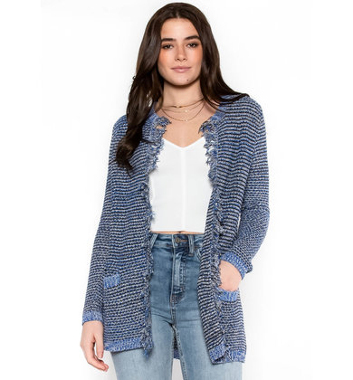 WRAPPED IN YOU FRINGE CARDIGAN