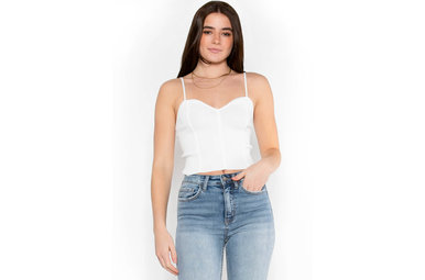 LESSONS OF LOVE CROP TOP - WHITE