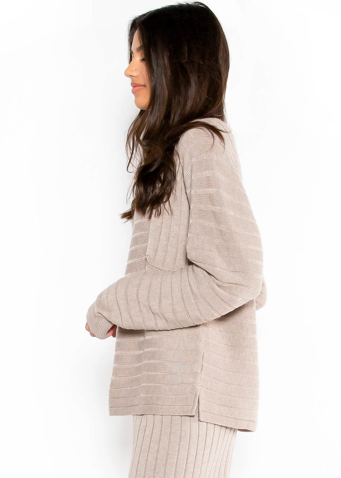 STAYCATION TAUPE SWEATER