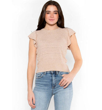 SHE'S BLUSHING KNIT TOP