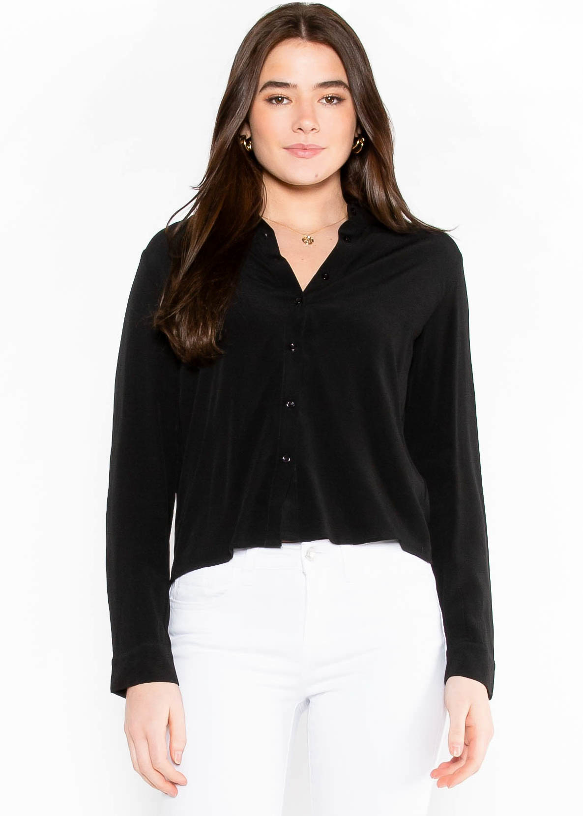 TIME NOT WASTED BLOUSE - BLACK