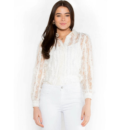 VIVID DREAMS LACE BLOUSE - IVORY