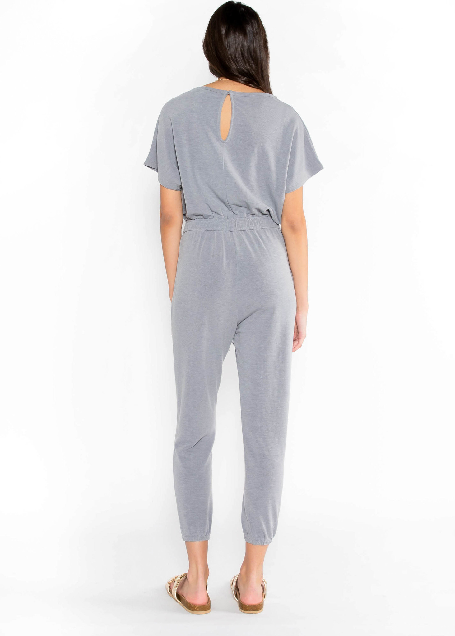 SOMETHING REAL JUMPSUIT - GREY