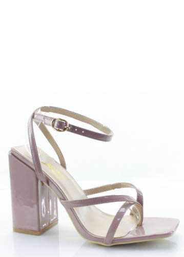 WALK TO YOU SQUARE TOE HEELS
