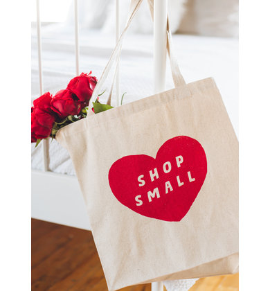 SHOP SMALL CANVAS TOTE BAG