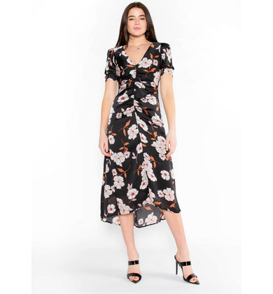 LOVE HARMONY FLORAL MIDI DRESS