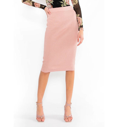 GAME OF LOVE MIDI SKIRT - MAUVE