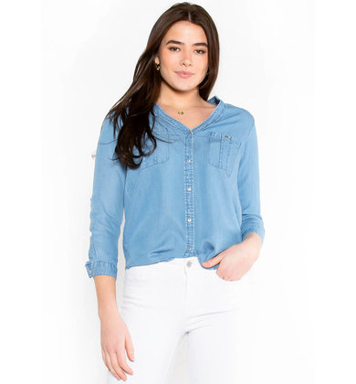 GOOD AS GONE CHAMBRAY TOP