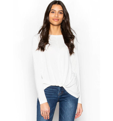 WITH A TWIST WHITE KNOTTED TOP