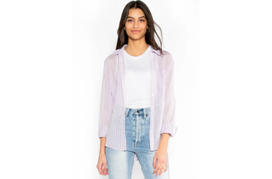 LAVENDER FIELDS BUTTON UP