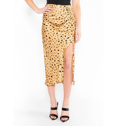 WORRY LESS LEOPARD PRINT SKIRT