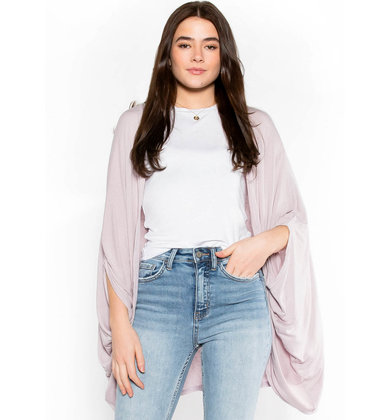 LAYERED IN LILAC OPEN CARDIGAN