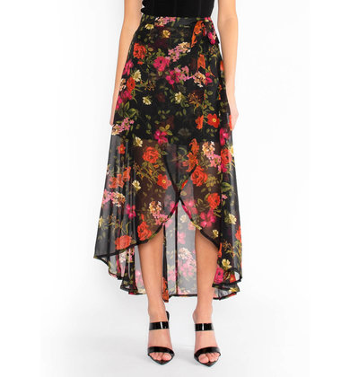 FULL BLOOM FLORAL SKIRT