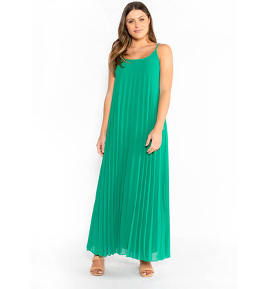 VACAY MODE PLEATED MAXI DRESS
