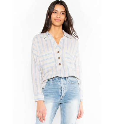BRIGHTER HORIZONS STRIPED TOP